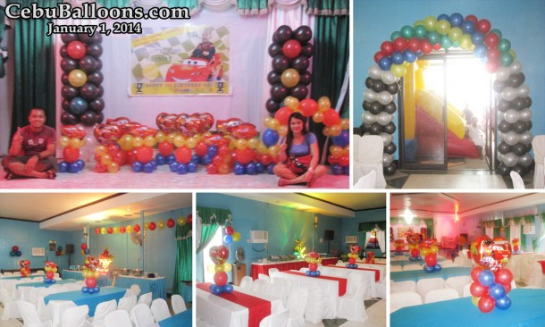 Balloon Decoration on New Year 2014 at United Pentecostal Church