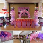 Balloon Decoration with Hello Kitty Standees and Letters at Sugbahan
