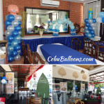 Balloon Decors for a Boy Christening at Cafe Angelica Barko