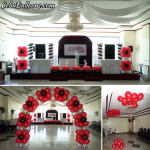 Balloon Decors for a Debut at Crowne Garden Hotel