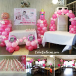 Balloon Decors for the Christening of Brianne Rose Pacis at Aise Restaurant