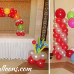 Balloon Designs (Dominant Red & White) at Montebello Villa Hotel Mercedes Room
