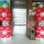 Balloon Pillars (Red & White) for a Debut at Cebu Northwinds Hotel