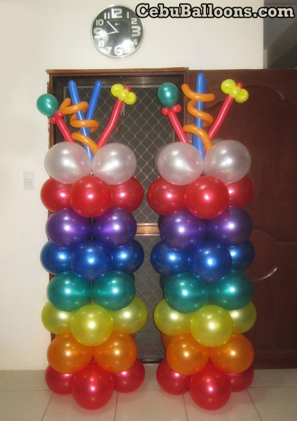Balloon Pillars for Mexican-theme Party