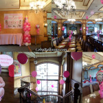 Balloon Setup for a Christening at Pino Restaurant