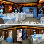 Balloon decors for an after-baptism reception at Casino Espanol (Andalucia Room)