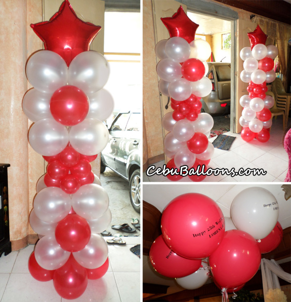Balloons for 25th Wedding Anniversary
