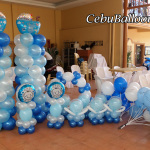 Balloons for Christening at Cocina Calza Catering Building