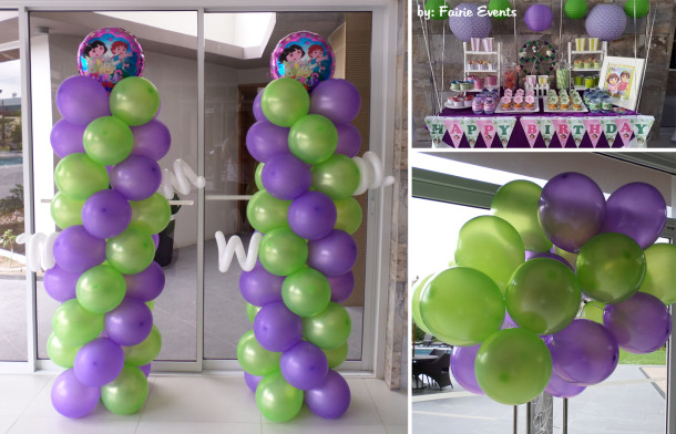 Balloons for a Dora Decoration at Midori Residences
