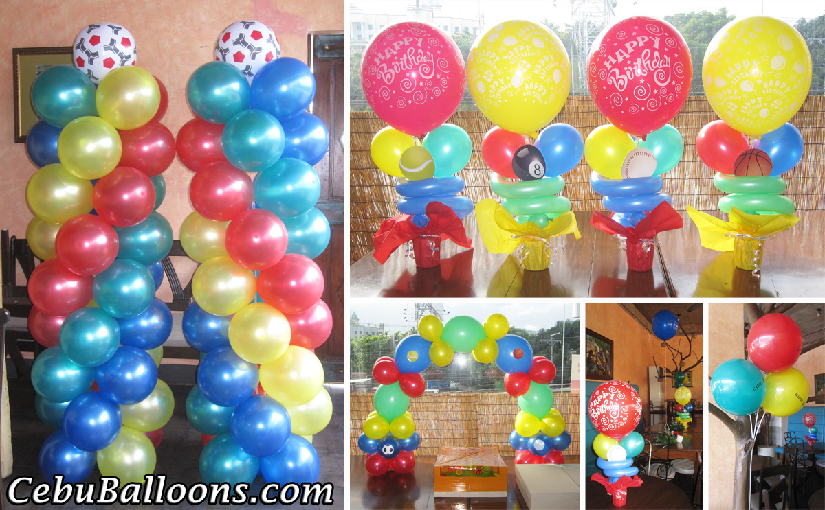 Basketball cebu balloons and party supplies for Balloon decoration images party