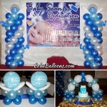 Baptism Balloon Decors (Blue, Light Blue, White) at Allure Hotel
