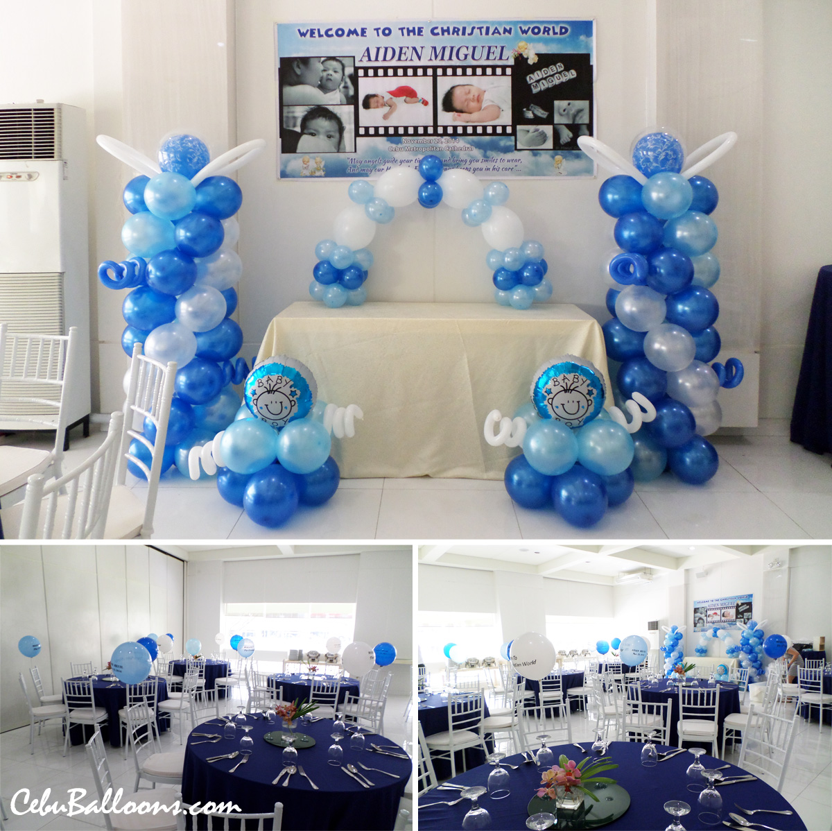 Baptism decoration for aiden miguel at laguna garden cafe cebu balloons and party supplies - Decorations for a baptism ...