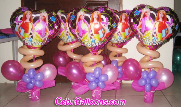 Barbie Balloon Centerpieces