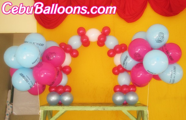 Barbie Cake Arch & Flying Balloons at Garden Bloom