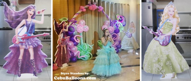 Barbie Popstar Princess Standees