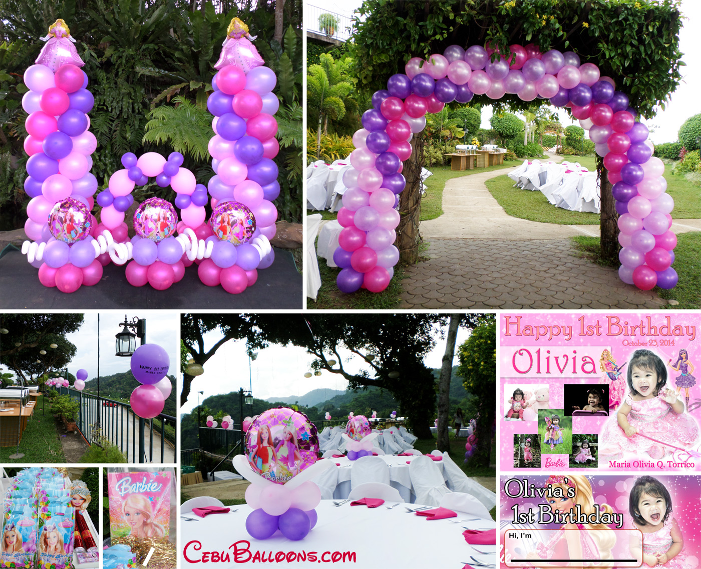 Barbie Theme Balloon Decoration & Party Supplies at Chateau de Busay