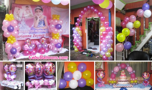 Barbie Theme Balloon Setup at Paknaan Residence