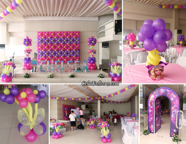 Barbie & the Secret Door Balloons & Styro Decorations at Paradise Garden Events Pavilion