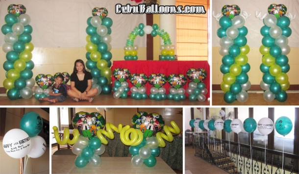 Ben 10 cebu balloons and party supplies for Balloon decoration packages manila