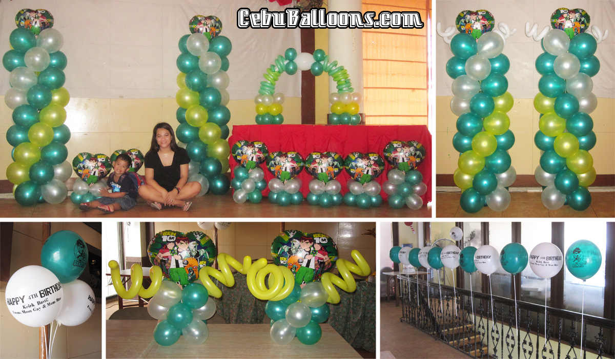 Ben 10 cebu balloons and party supplies for Decoration stuff