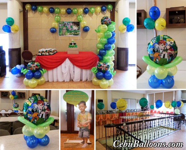 Ben Ten Balloon Decors with Standee & Tarp at Sugbahan