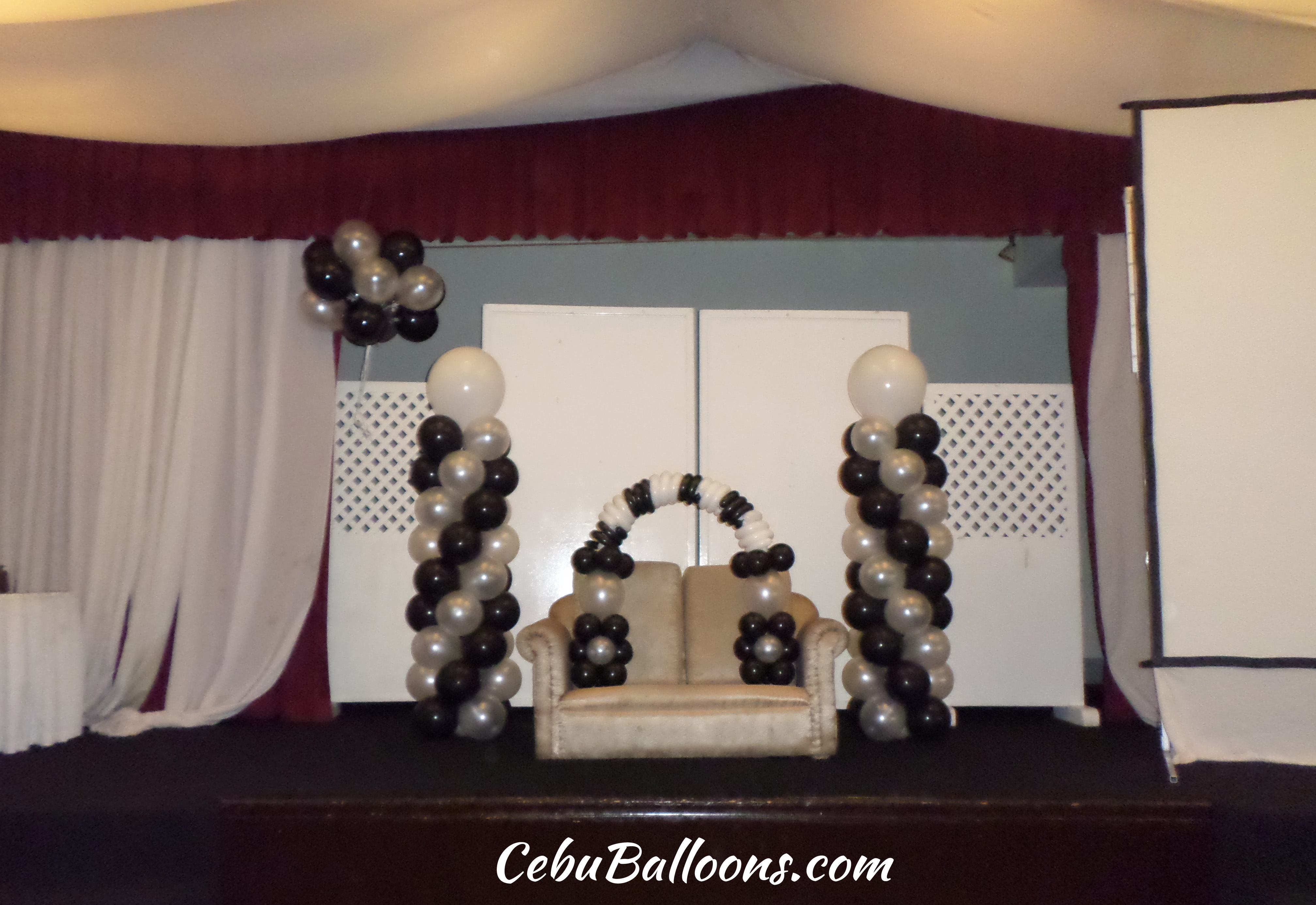 Black And White Balloons For A Debut Decoration At Montebello Celebrity Room