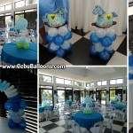 Boy Christening Balloon Decors at Amara Function Hall