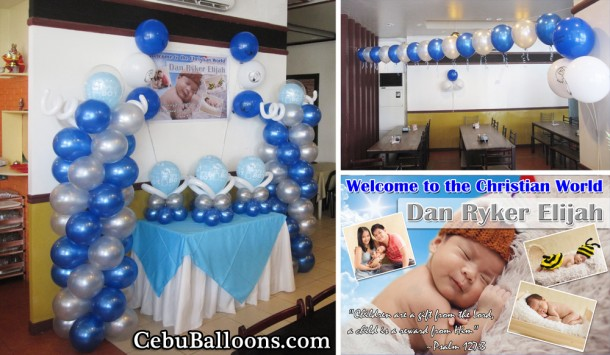 Boy Christening Setup at Merillas Resto