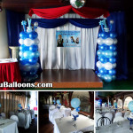 Boy Christening theme Balloon Pillars & Centerpieces at Royal Concourse (Ranjay Manugas)