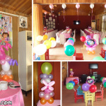 Cake Arch & Other Balloons for a Dora the Explorer Birthday at Lola Saling's Restaurant