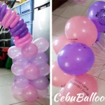 Cake Arch & Stick Balloons