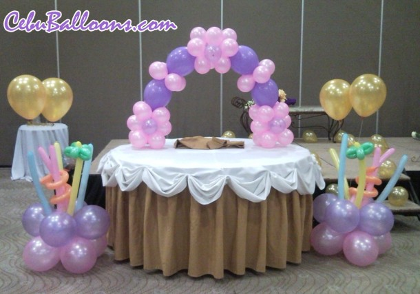 Cake Arch and Stage Decor for Debut