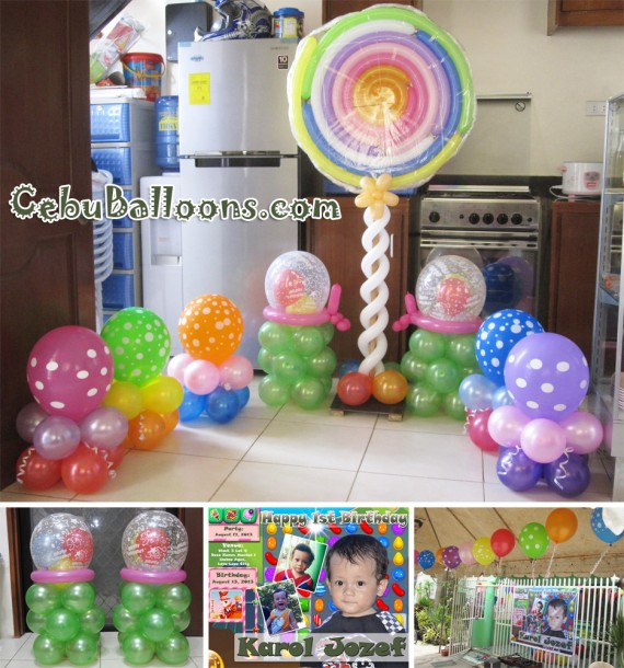 Candy crush cebu balloons and party supplies for Balloon decoration packages