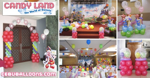 Candyland Balloon Decoration Setup at Allure Hotel & Suites