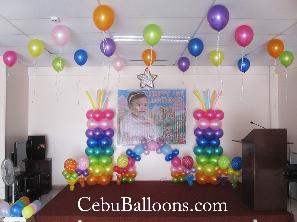 Hydrogen or helium gas used for flying balloons cebu for Balloon decoration images party