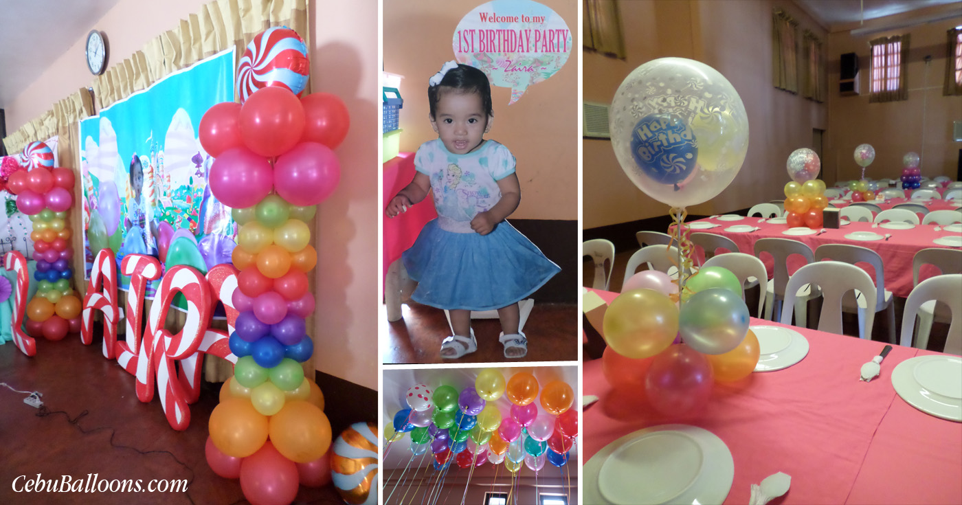 Candyland cebu balloons and party supplies for 1st birthday balloon decoration images