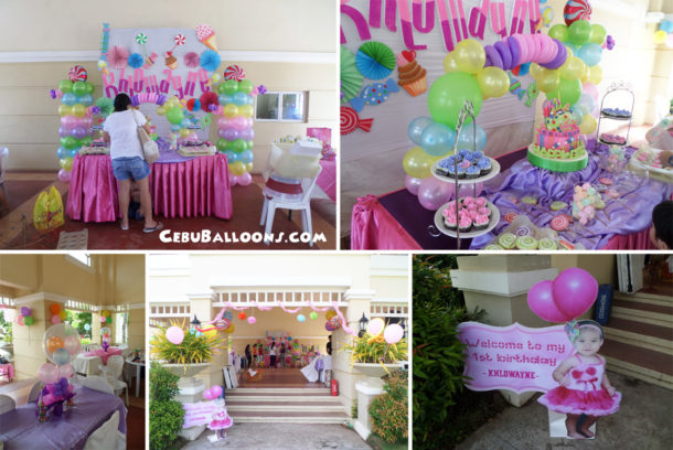 Candyland cebu balloons and party supplies for Balloon decoration for 1st birthday party