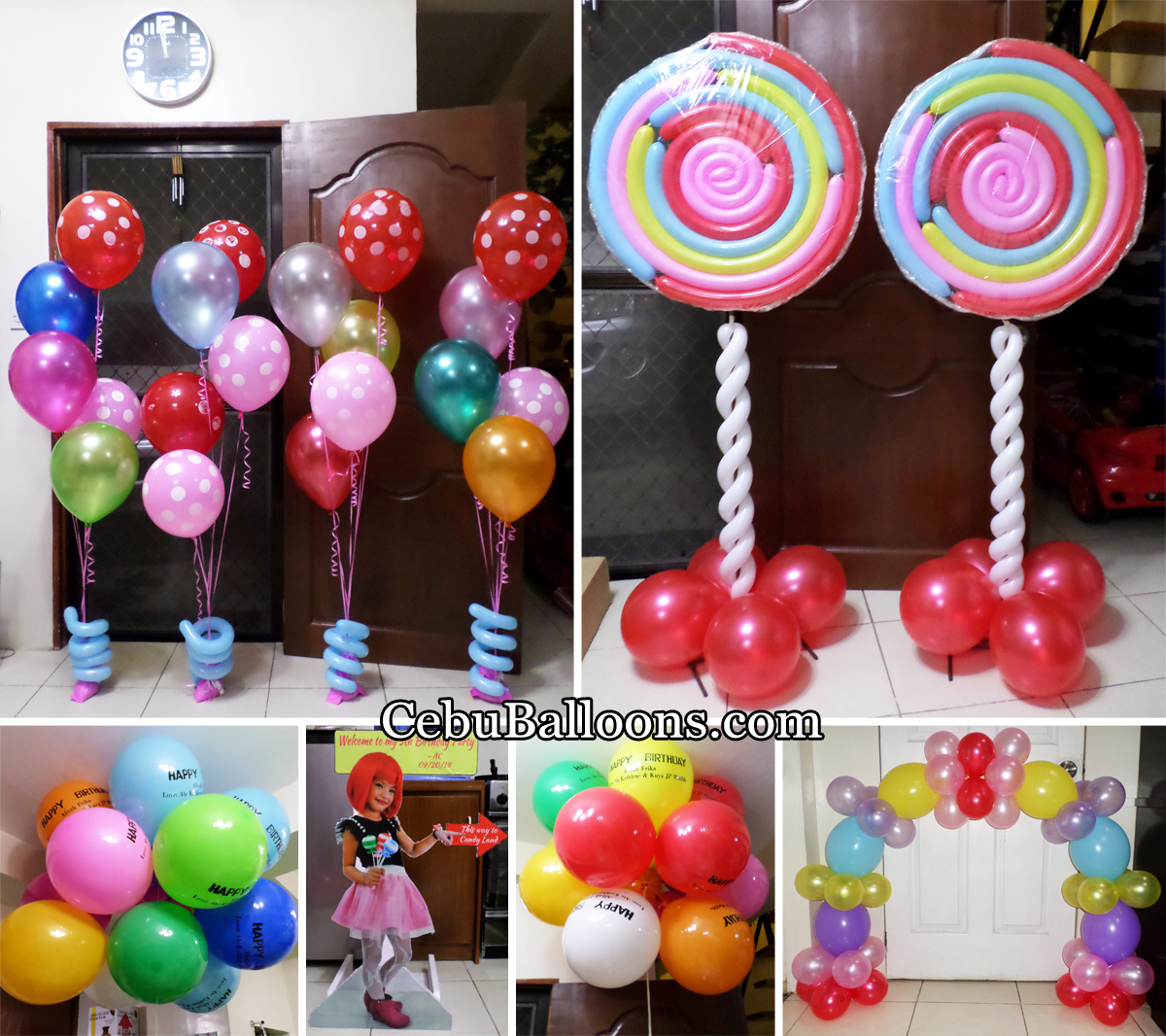 Candyland cebu balloons and party supplies for Balloon decoration images party