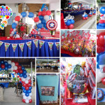 Captain America Decoration & Party Needs Combo Package at Banilad Sports Club