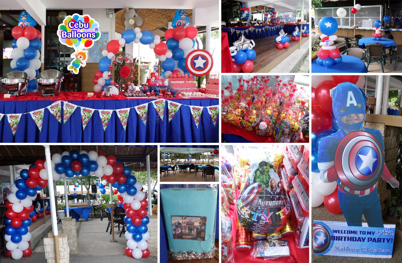 Captain America Decoration Party Needs Combo Package At Banilad Sports Club