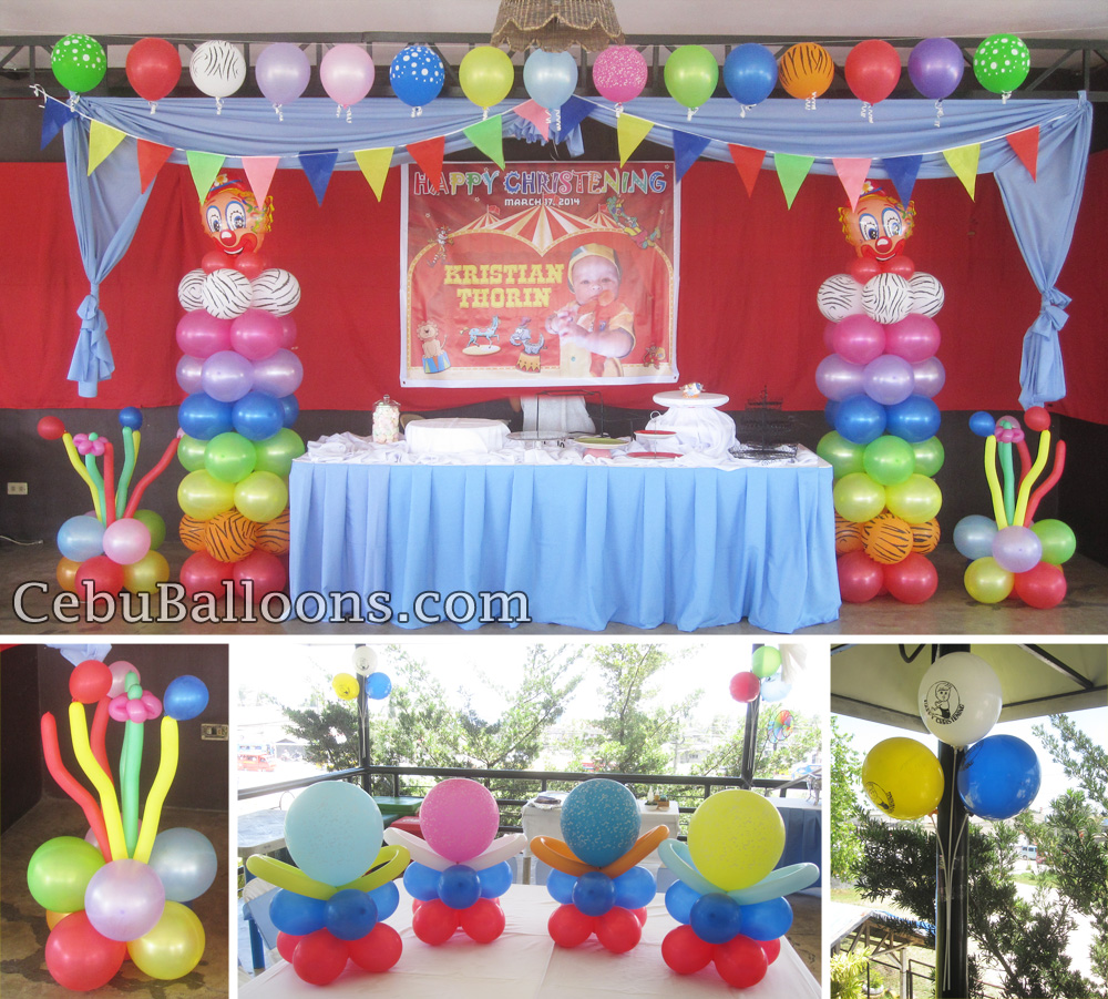 Carnival theme christening at orosia food park cebu balloons and party supplies - Carnival theme party supplies ...