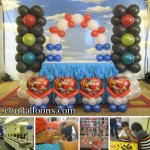 Cars Balloon Decoration with Face-painters at Aicila Suites