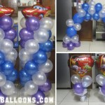 Cars (Blue, Purple & White Ballooons)