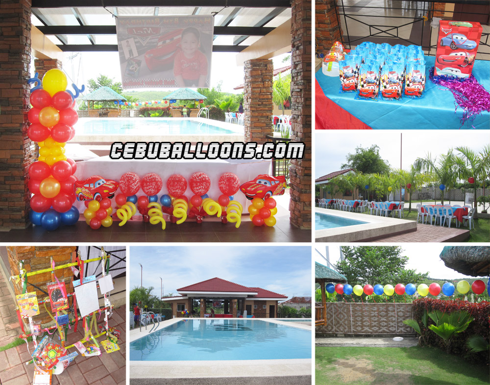 Cars theme balloon decoration and party package at vista for Balloon decoration packages manila