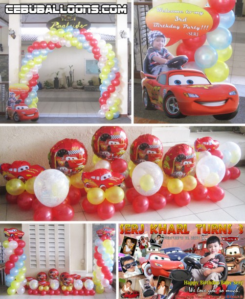 Cars Theme Balloon Decors with Tarp & Standee at Metropark