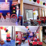 Cars-Theme Balloons & Styro Decors with Cake at Villa Pilipino Restaurant