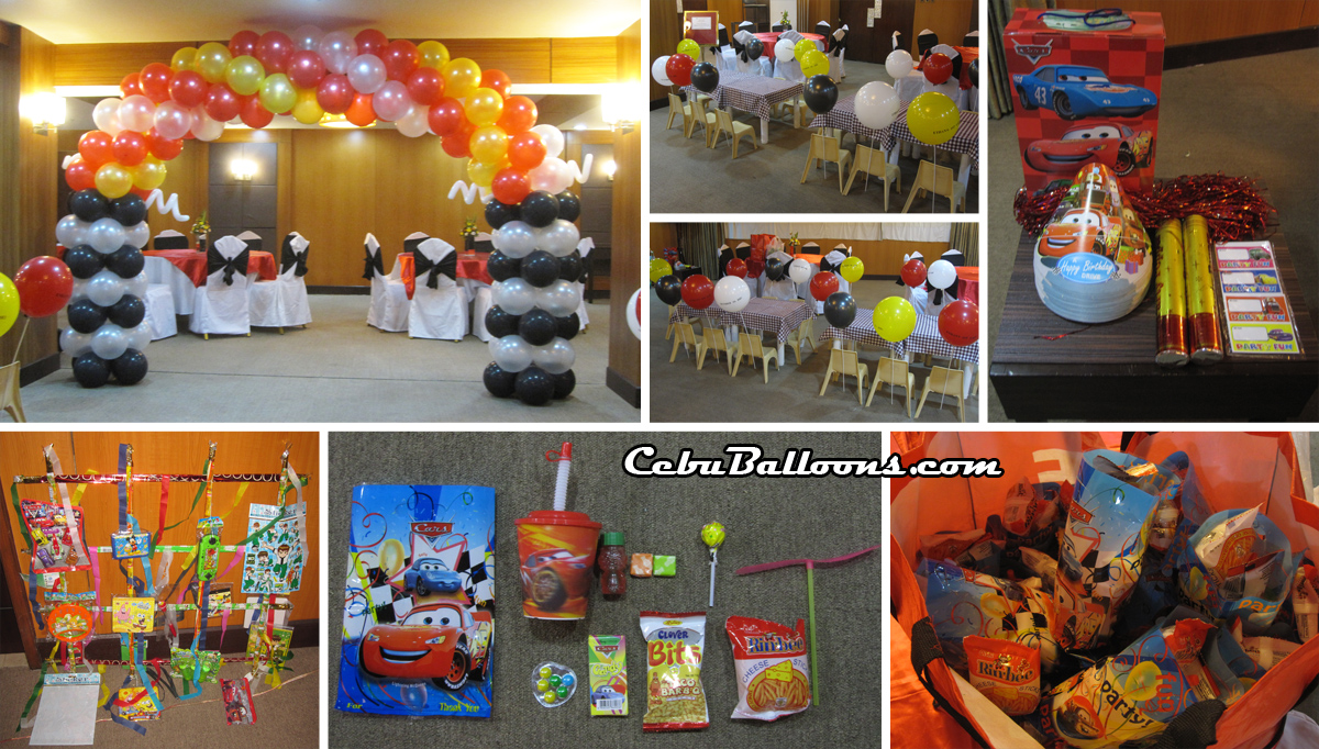 Cars Party Decorations Goldberry Suites And Hotel Cebu Balloons And Party Supplies