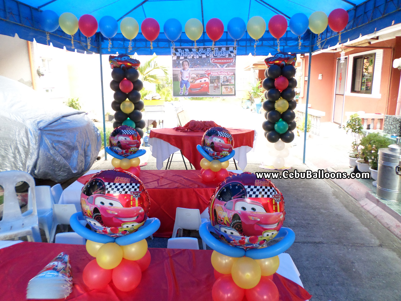 Delivery of balloons to lapulapu city cebu balloons and for Balloon decoration cars theme