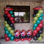 Cars theme Balloon Pillars and Centerpieces in a Riprap House in Consolacion