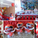 Cars-theme Dessert Buffet with Balloon Decors & Standee at DecaHomes Dumlog Talisay